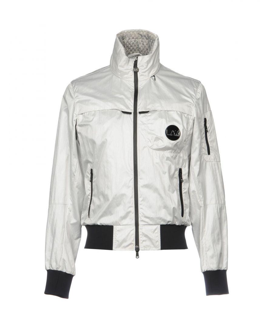 Image for EA7 Light Grey Bomber Jacket