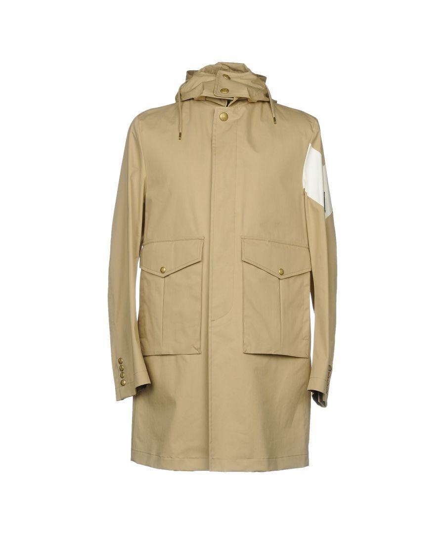 Image for Moncler Gamme Bleu Beige Cotton Mackintosh Overcoat