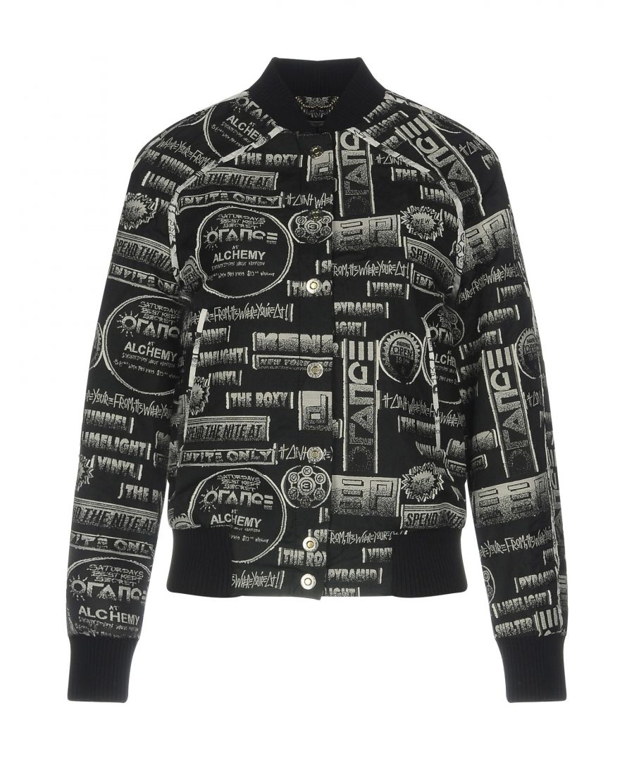 Image for Kenzo Black Jacquard Bomber Jacket
