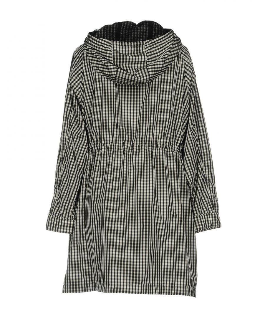 Image for Moncler Black Check Techno Fabric Overcoat