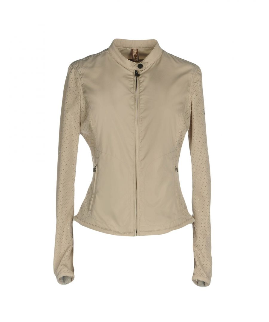 Image for Matchless Beige Techno Fabric Biker Jacket