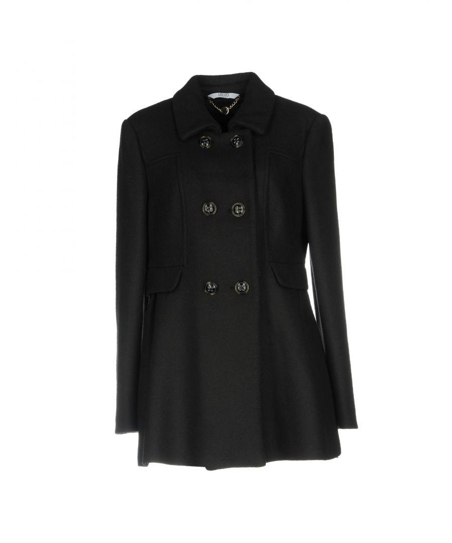 Image for Liu Jo Steel Grey Virgin Wool Double Breasted Classic Coat