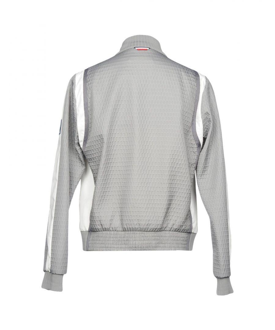 Image for Moncler Gamme Bleu Grey Techno Fabric Bomber Jacket