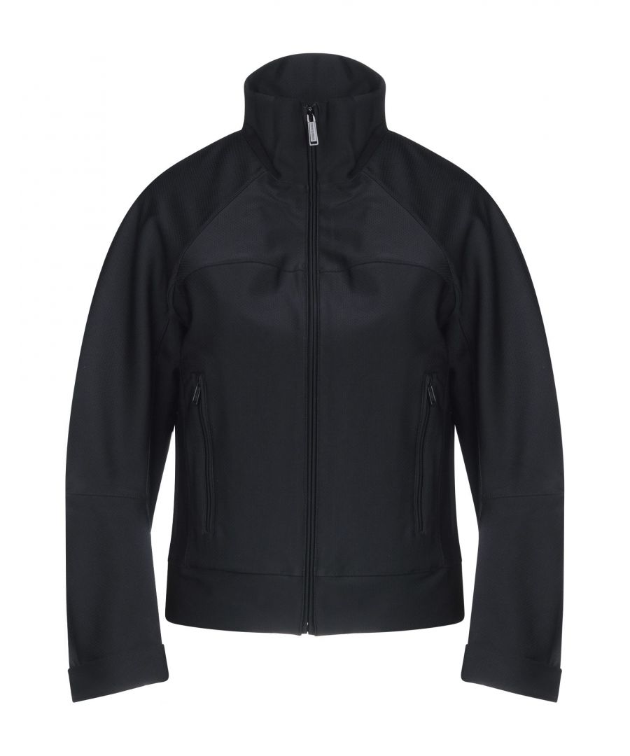 Image for Dsquared2 Black Techno Fabric Bomber Jacket