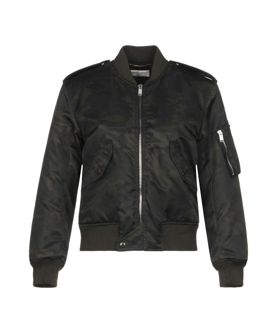 Image for Saint Laurent Dark Green Nylon Bomber Jacket