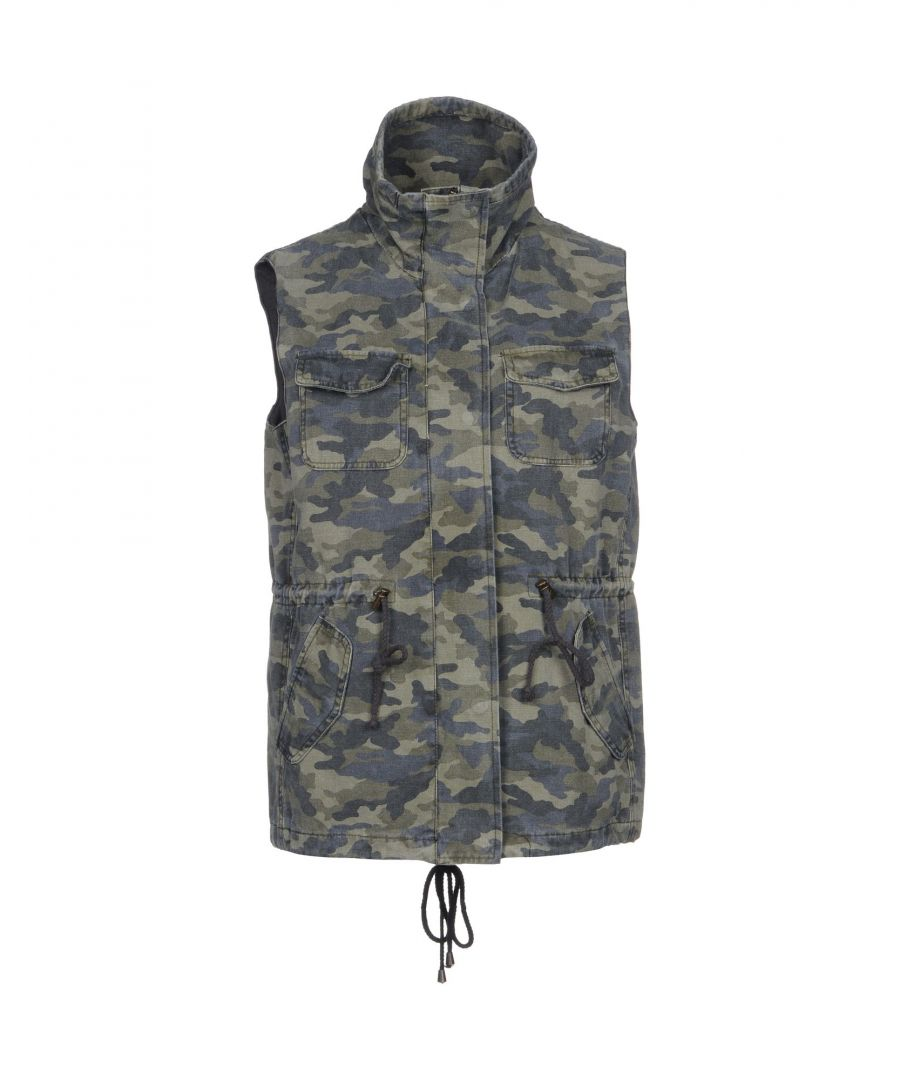 Image for Velvet By Graham & Spencer Military Green Cotton Gilet