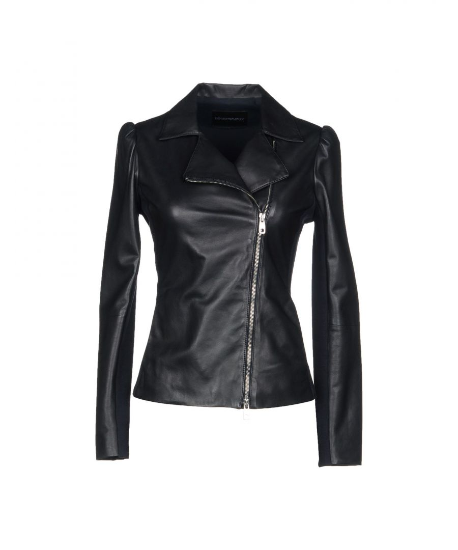 Image for Emporio Armani Black Leather Jacket