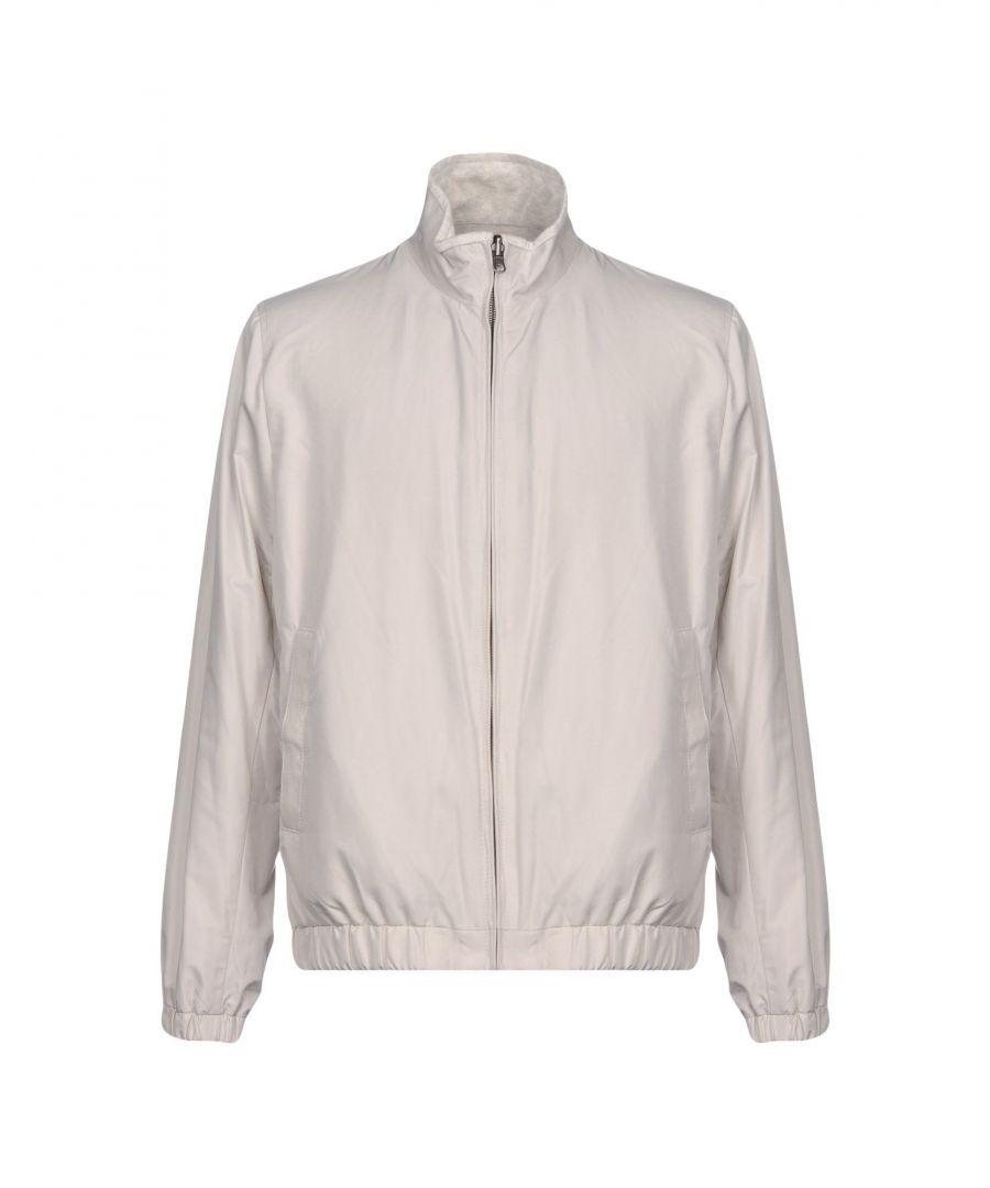 Image for Brooks Brothers Light Grey Techno Fabric Bomber Jacket