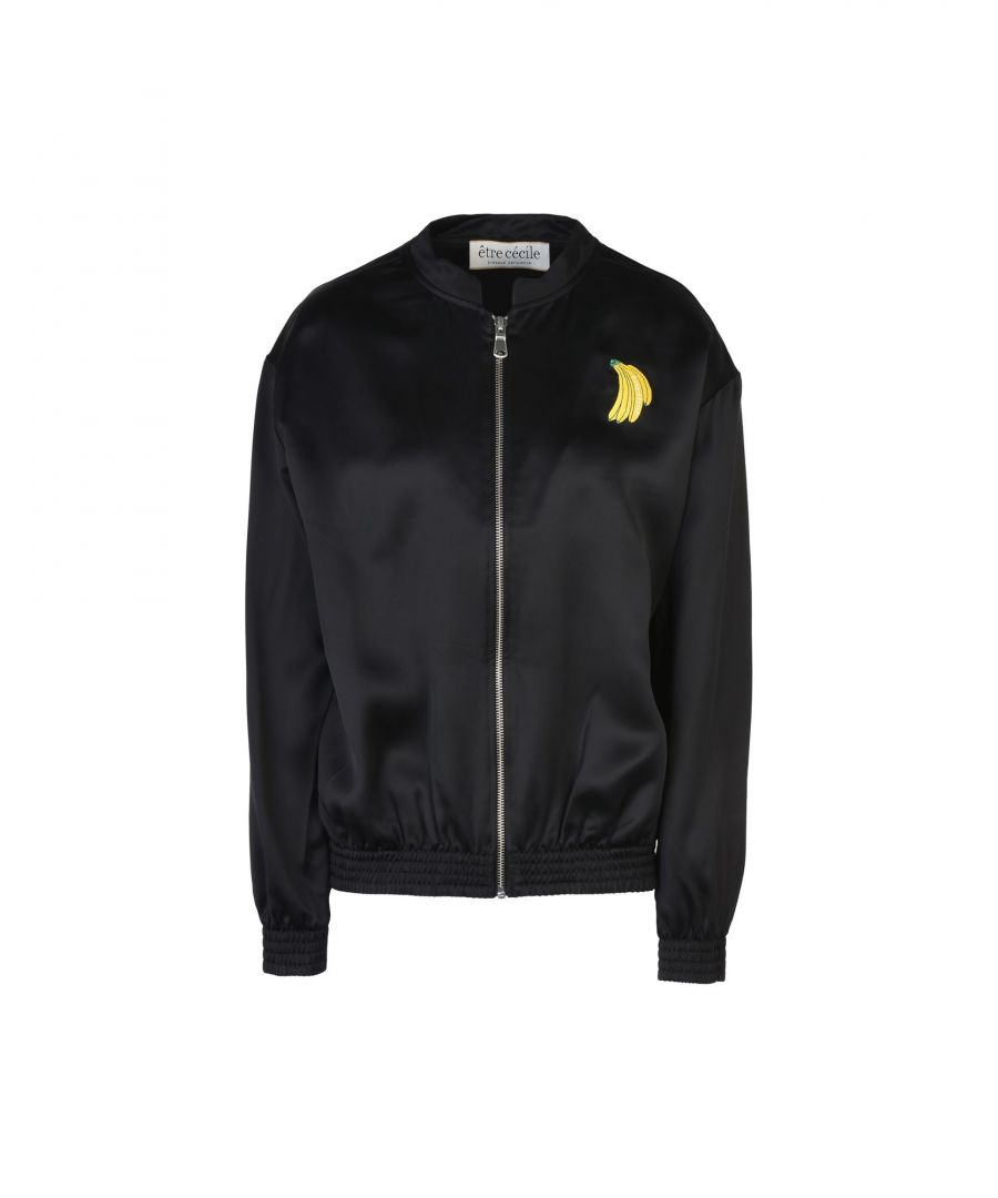 Image for Etre Cecile Black Techno Fabric Bomber Jacket