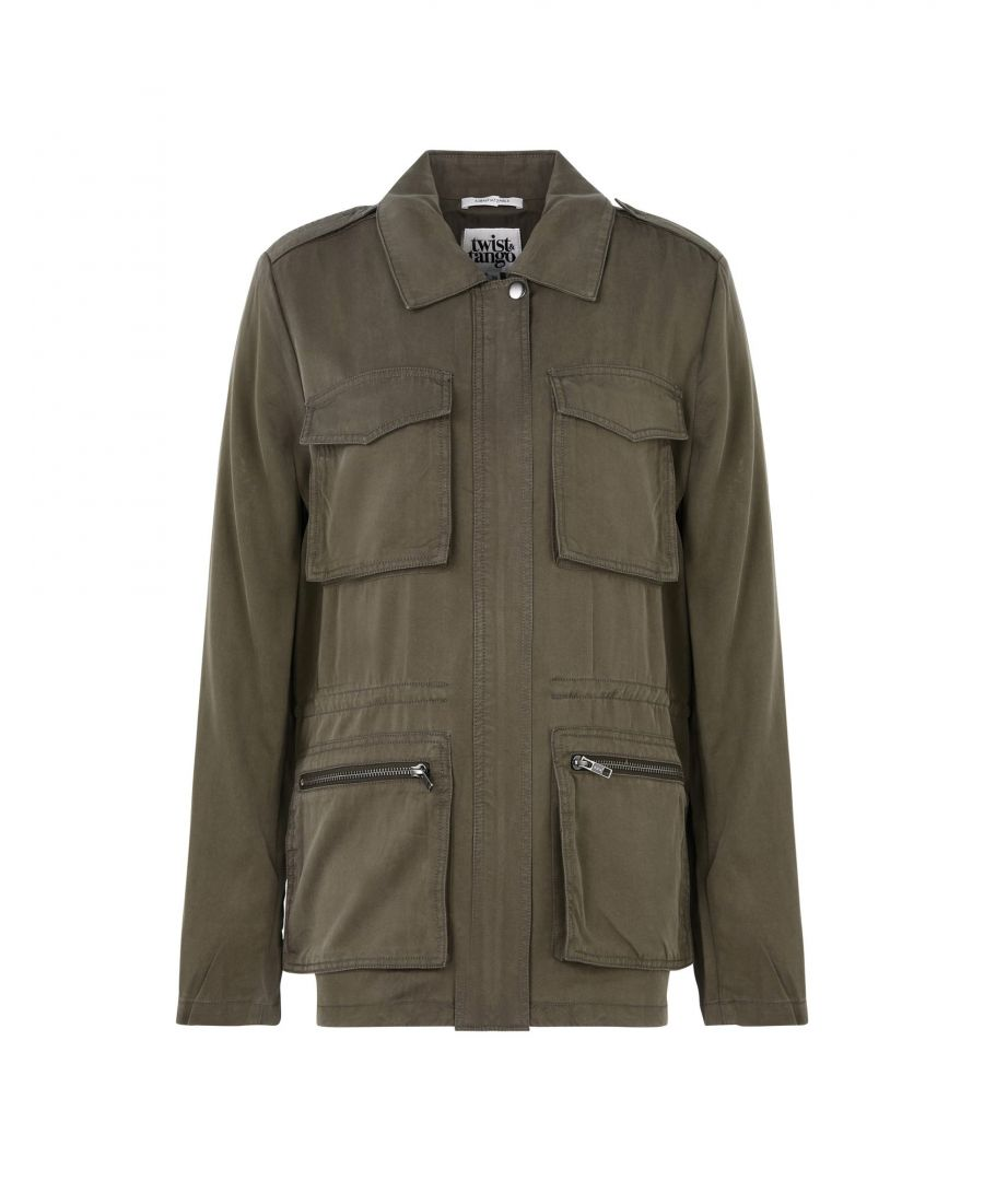 Image for Twist & Tango Military Green Twill Jacket