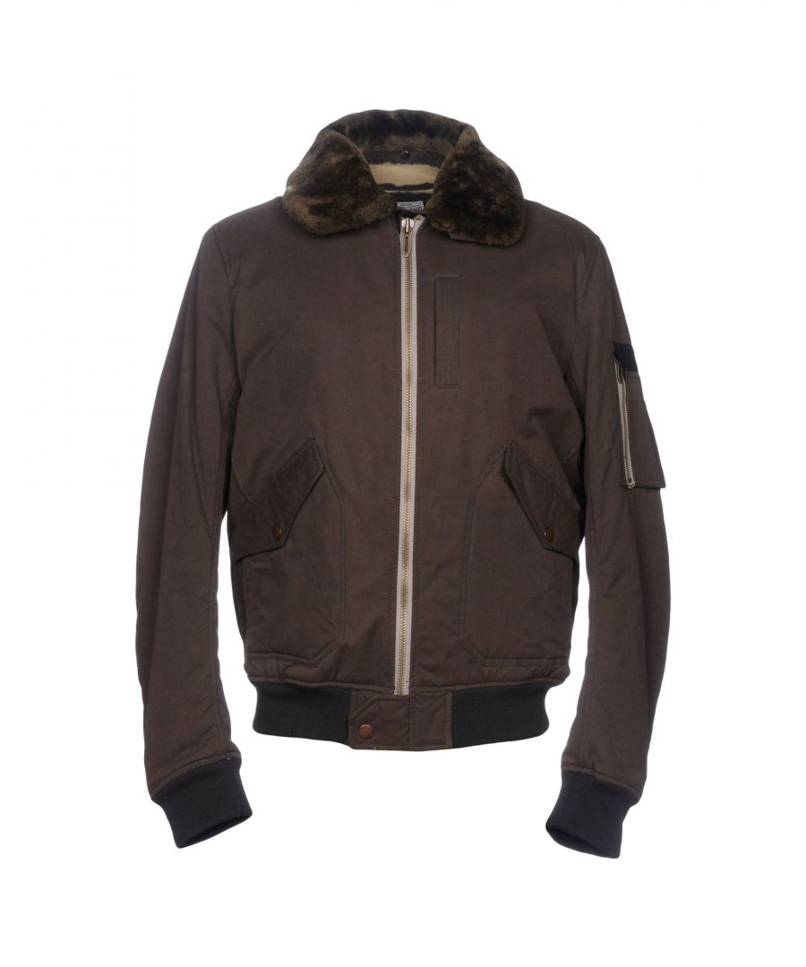 Image for Pepe Jeans Khaki Cotton And Faux Fur Bomber Jacket