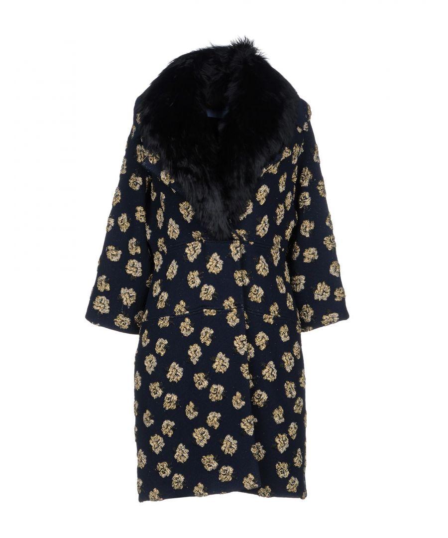 Image for Blumarine Dark Blue Print Coat