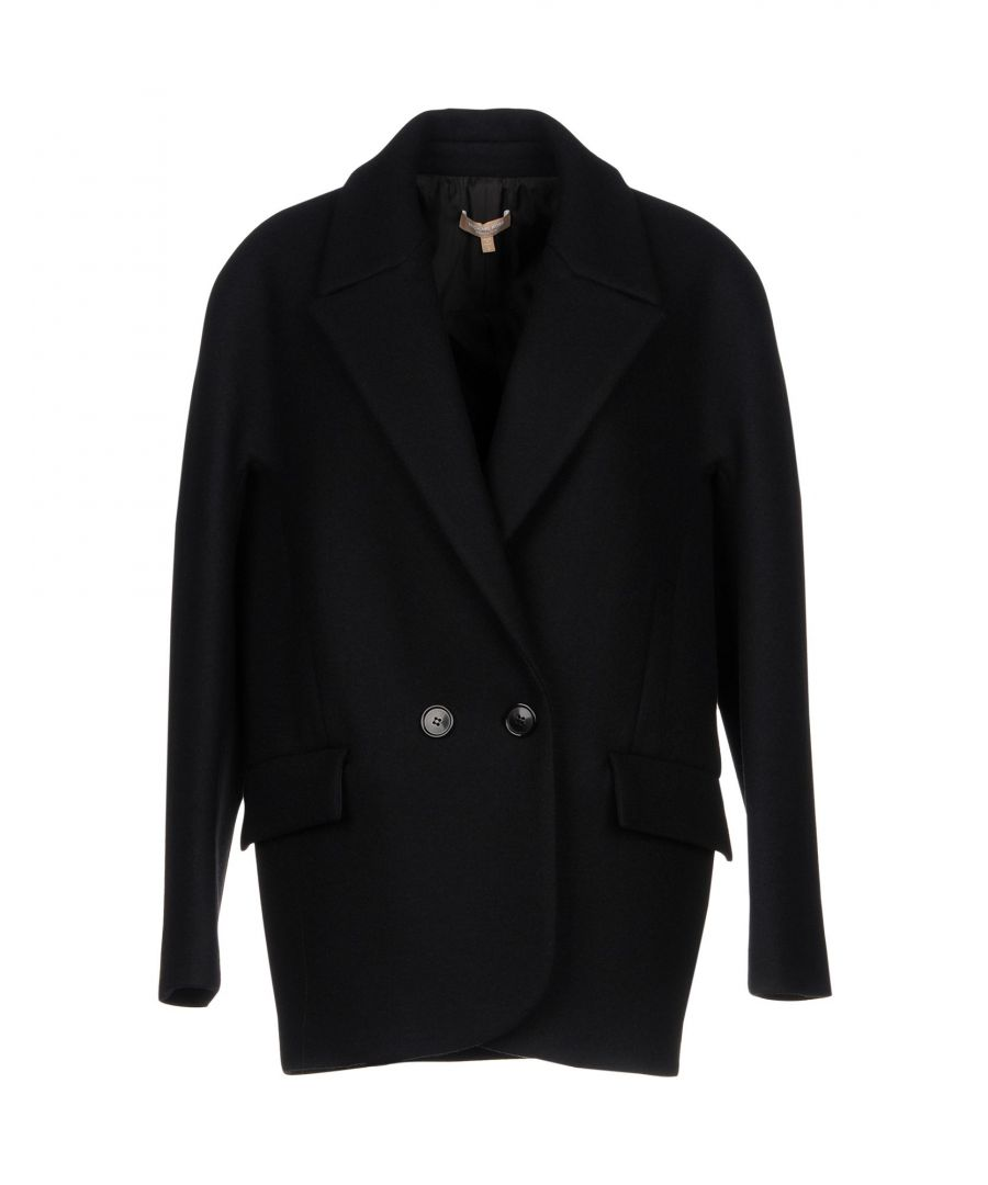 Image for Michael Kors Collection Black Virgin Wool Coat