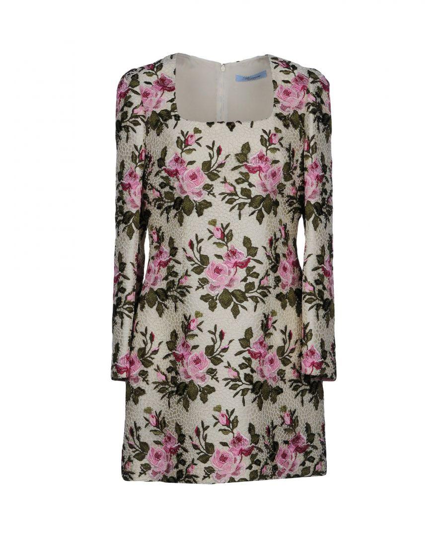 Image for Blumarine Ivory Floral Print Long Sleeve Dress
