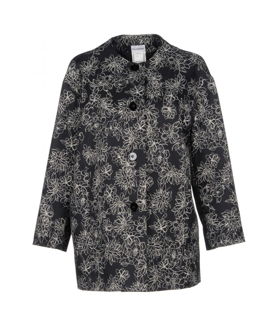 Image for Philosophy Di Alberta Ferretti Black Floral Print Jacket