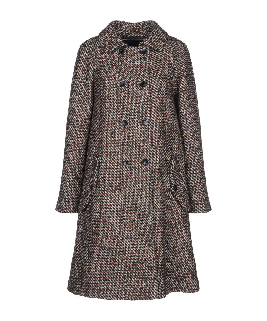 Image for Katia Giannini Brick Red Double Breasted Overcoat