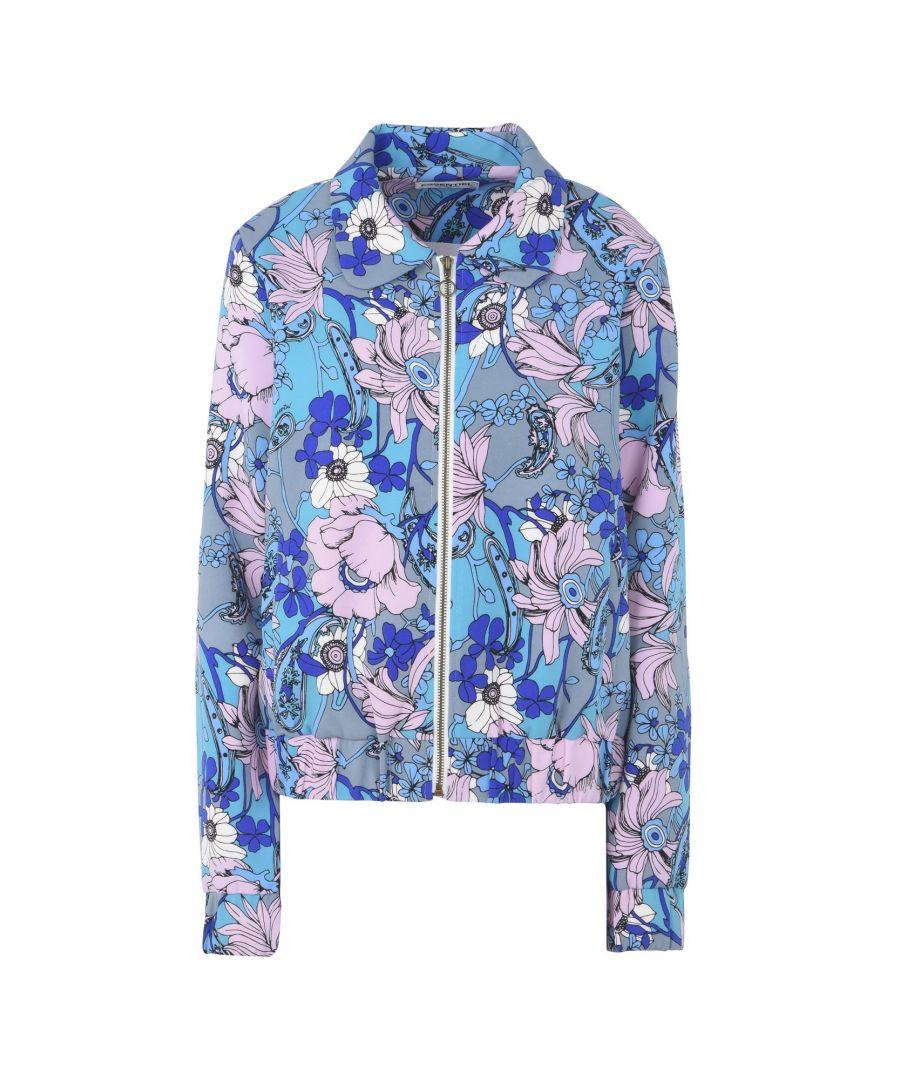 Image for Essentiel Antwerp Turquoise Floral Design Jacket