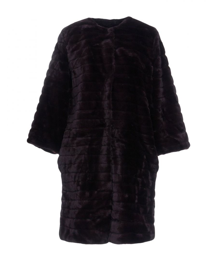 Image for Kaos Jeans Deep Purple Faux Fur Coat