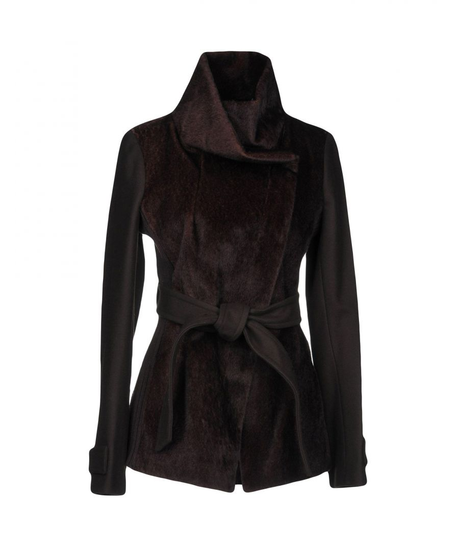 Image for Pinko Dark Brown Belted Jacket