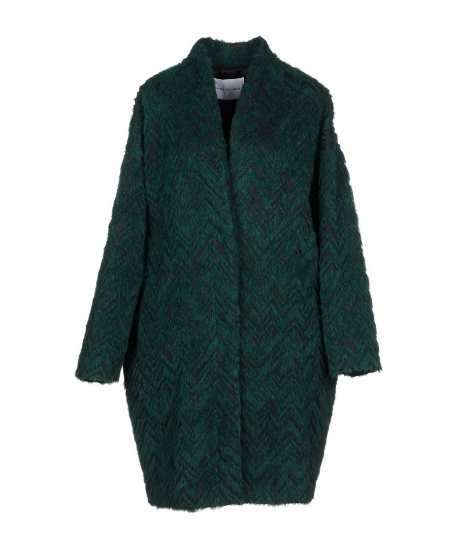 Image for Anna Rachele Dark Green Wool Coat