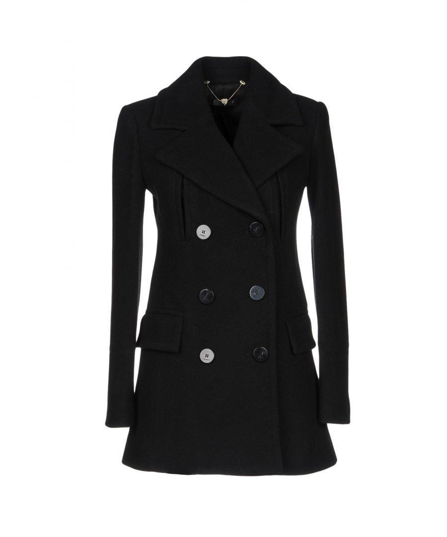 Image for Twinset Black Wool Double Breasted Coat