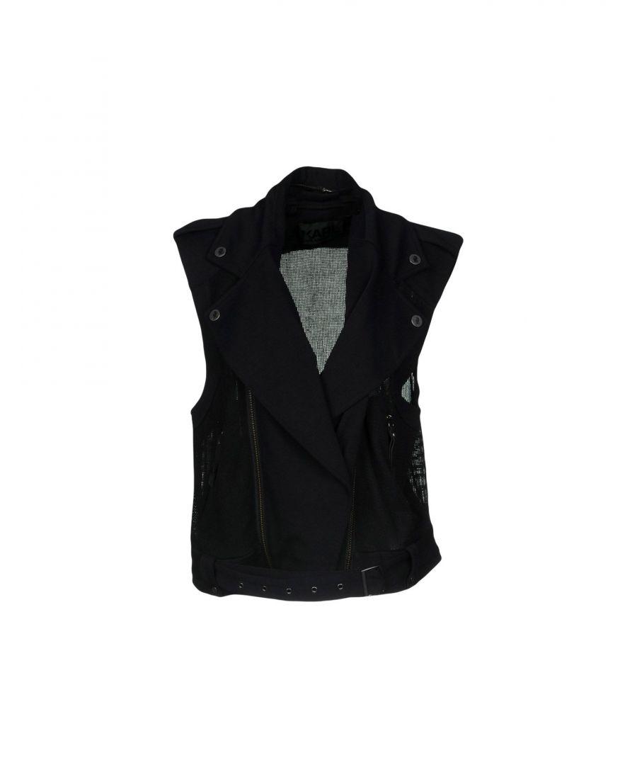 Image for Karl Lagerfeld Black Sleeveless Biker Jacket