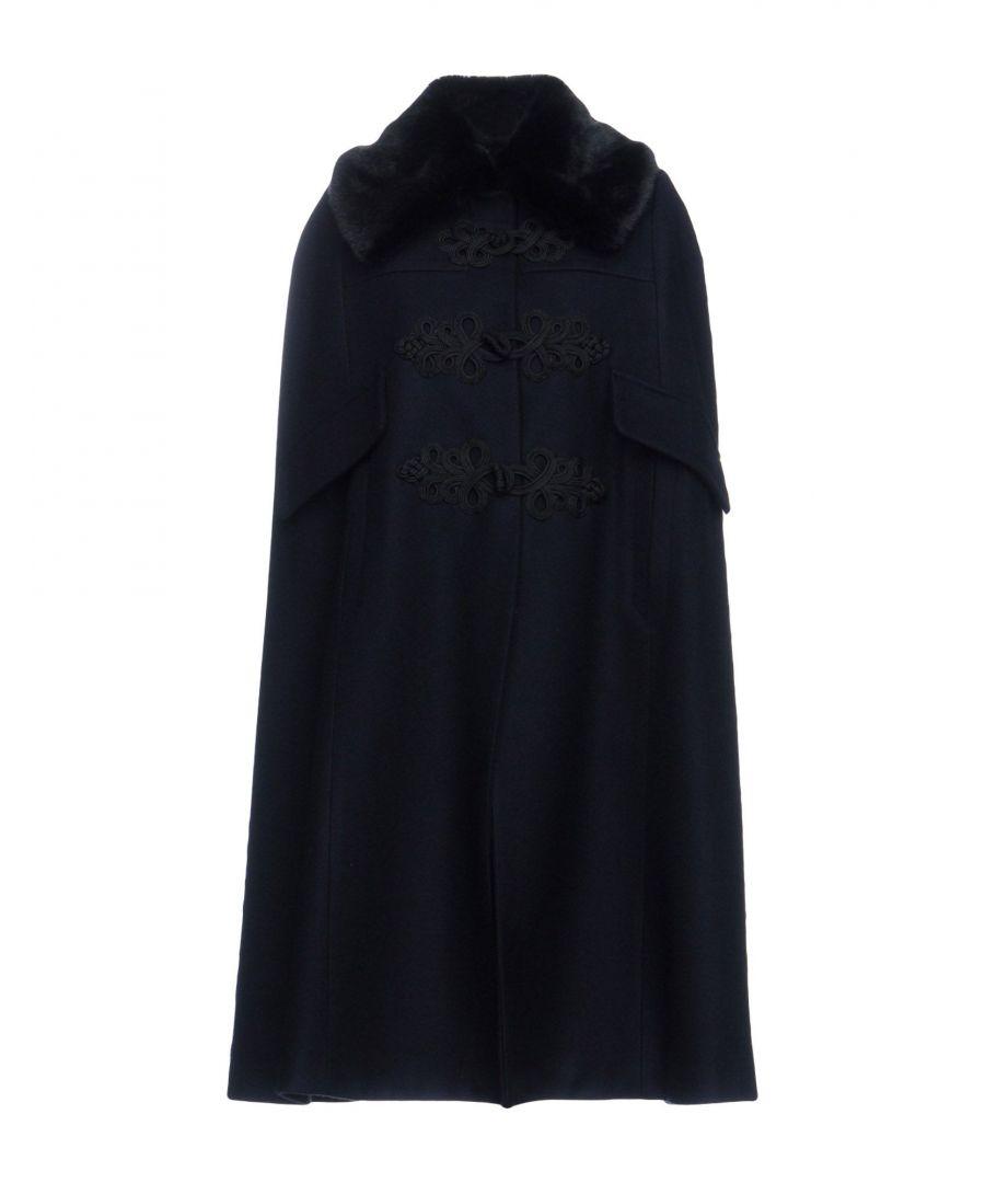 Image for Cristina Rocca Dark Blue Wool Cape