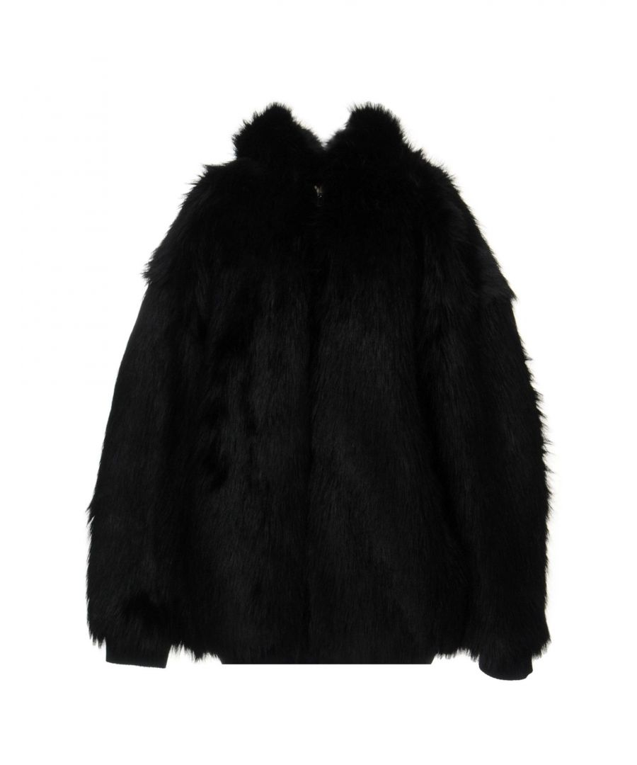 Image for Faith Connexion Black Faux Fur Jacket