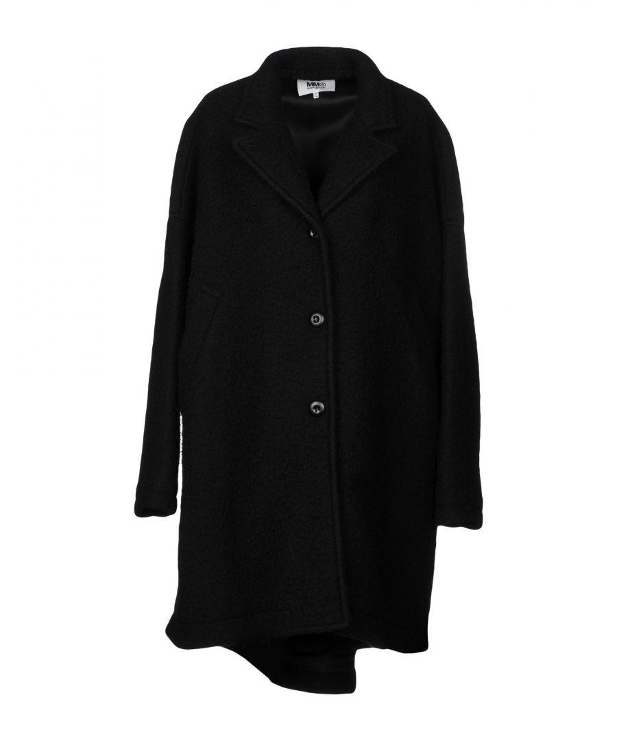 Image for MM6 Maison Margiela Black Virgin Wool Overcoat