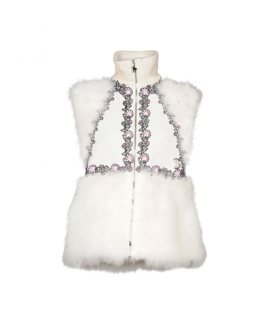 Image for Moncler Gamme Rouge Ivory Wool Embroidered Gilet