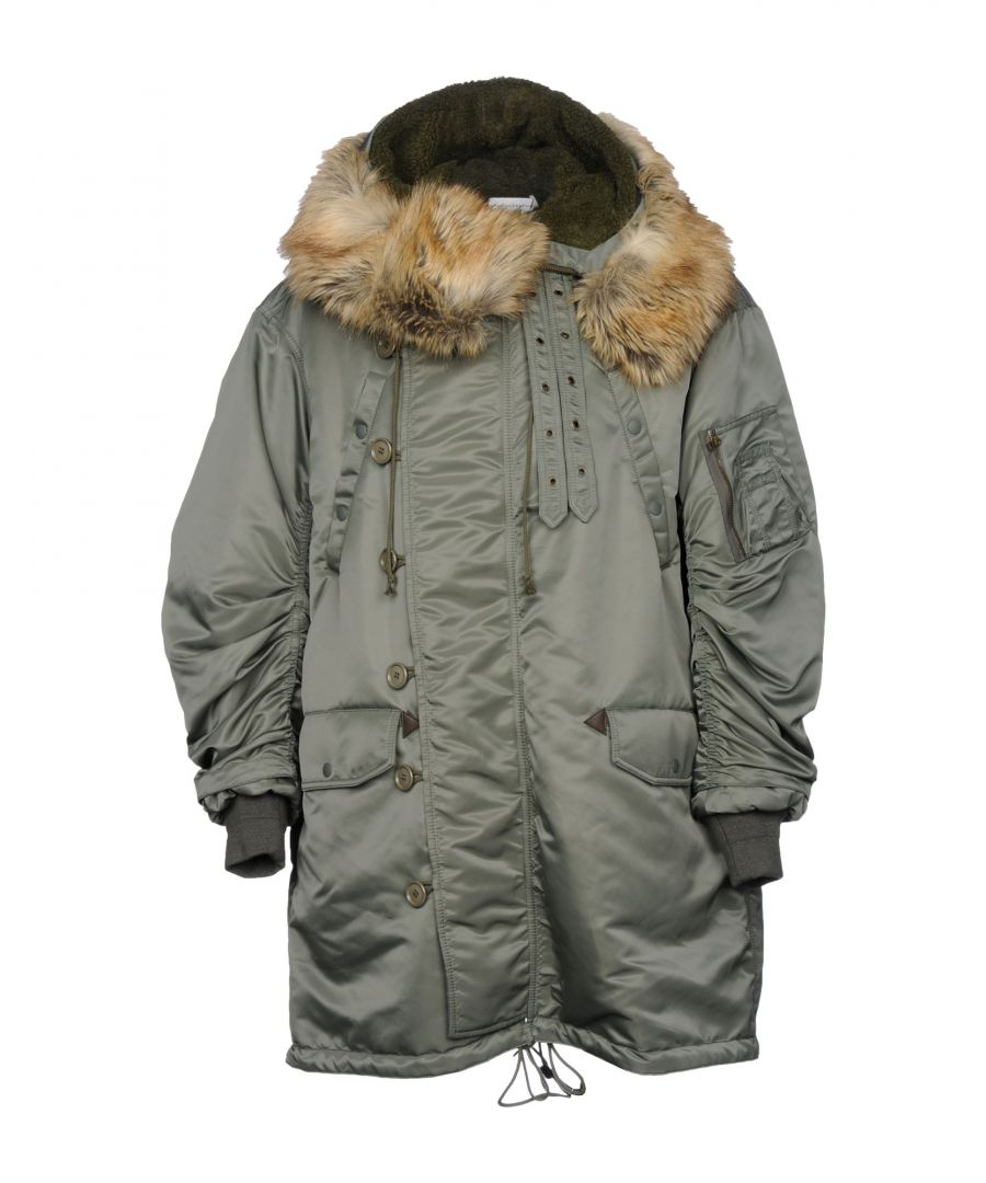 Image for Faith Connexion Military Green Faux Fur Parka Jacket