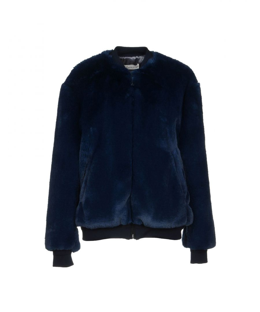 Image for Golden Goose Deluxe Brand Blue Faux Fur Jacket