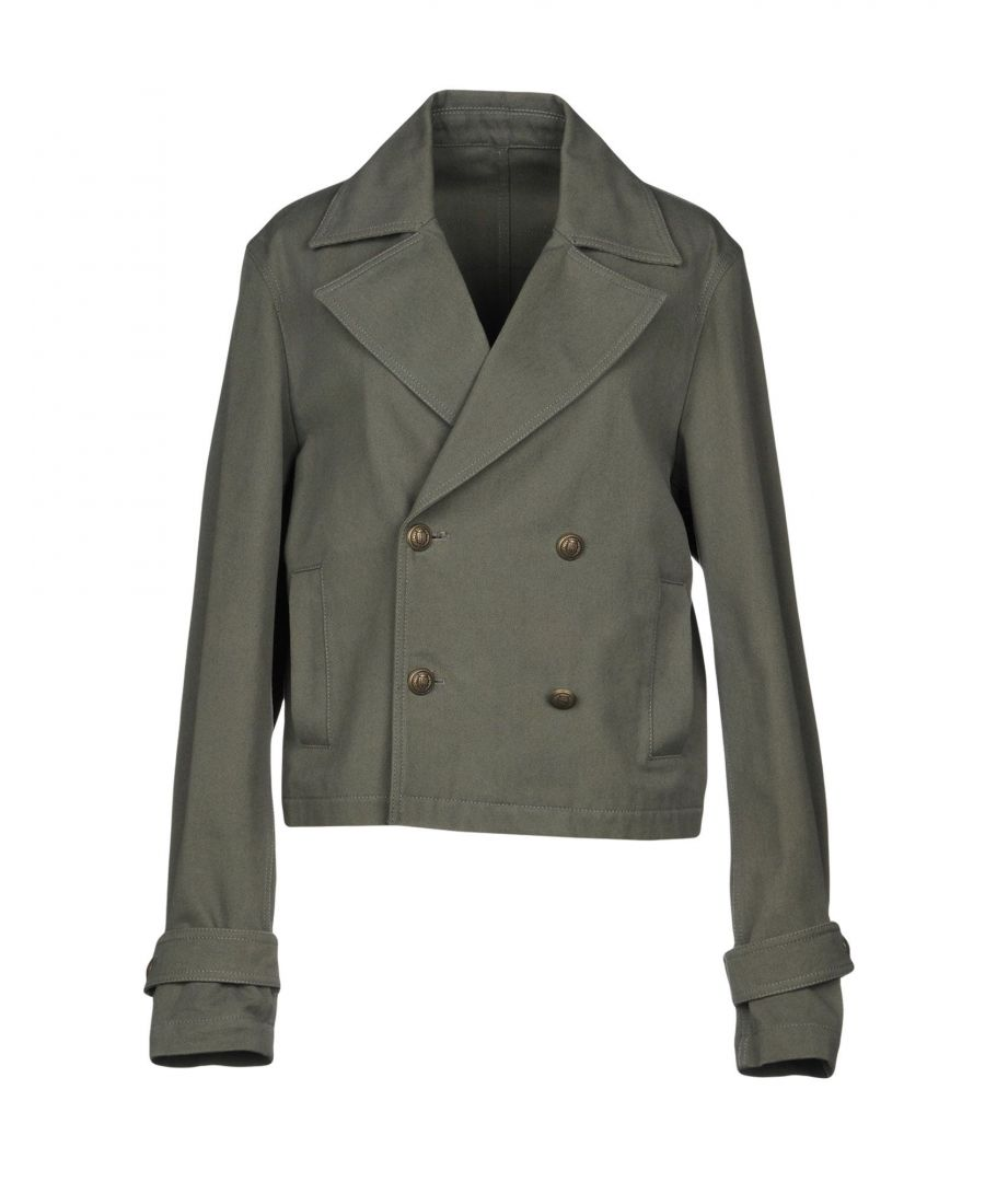 Image for Pinko Uniqueness Military Green Cotton Double Breasted Jacket