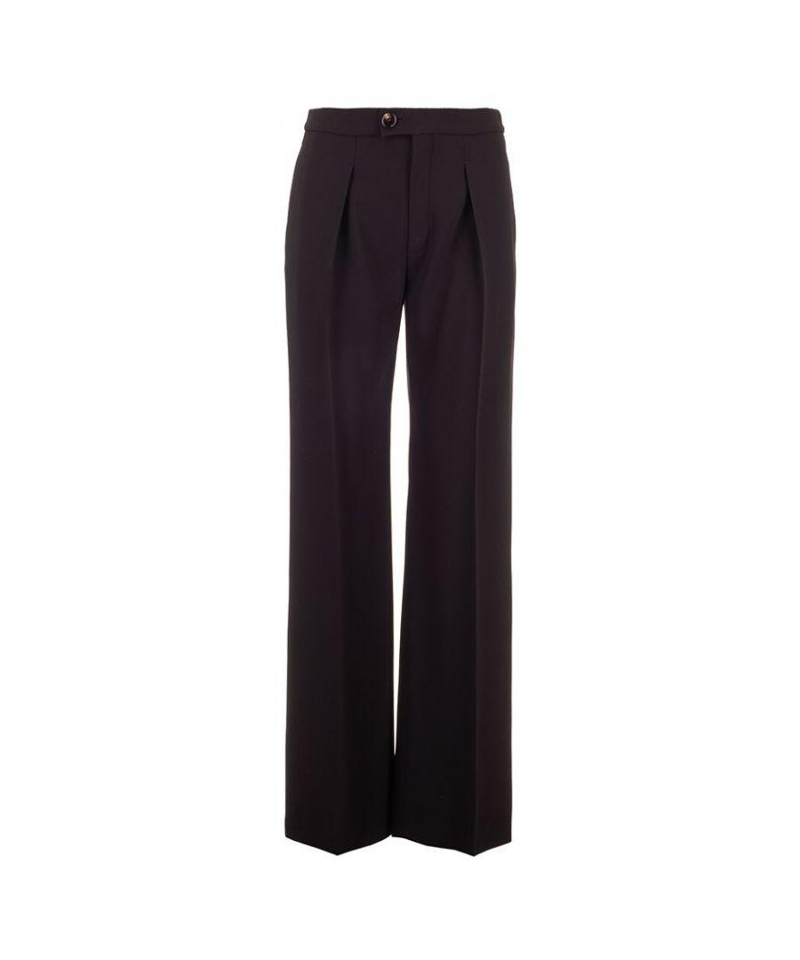 Image for CHLOÉ WOMEN'S CHC20SPA98137001 BLACK ACETATE PANTS