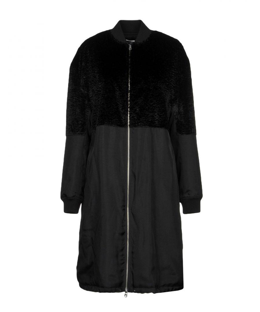 Image for Mcq Alexander Mcqueen Black Faux Fur Overcoat