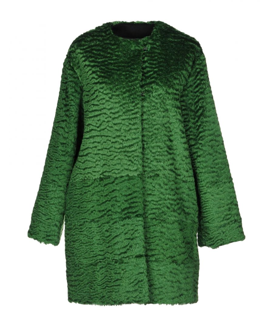 Image for MSGM Green Mohair Wool Overcoat