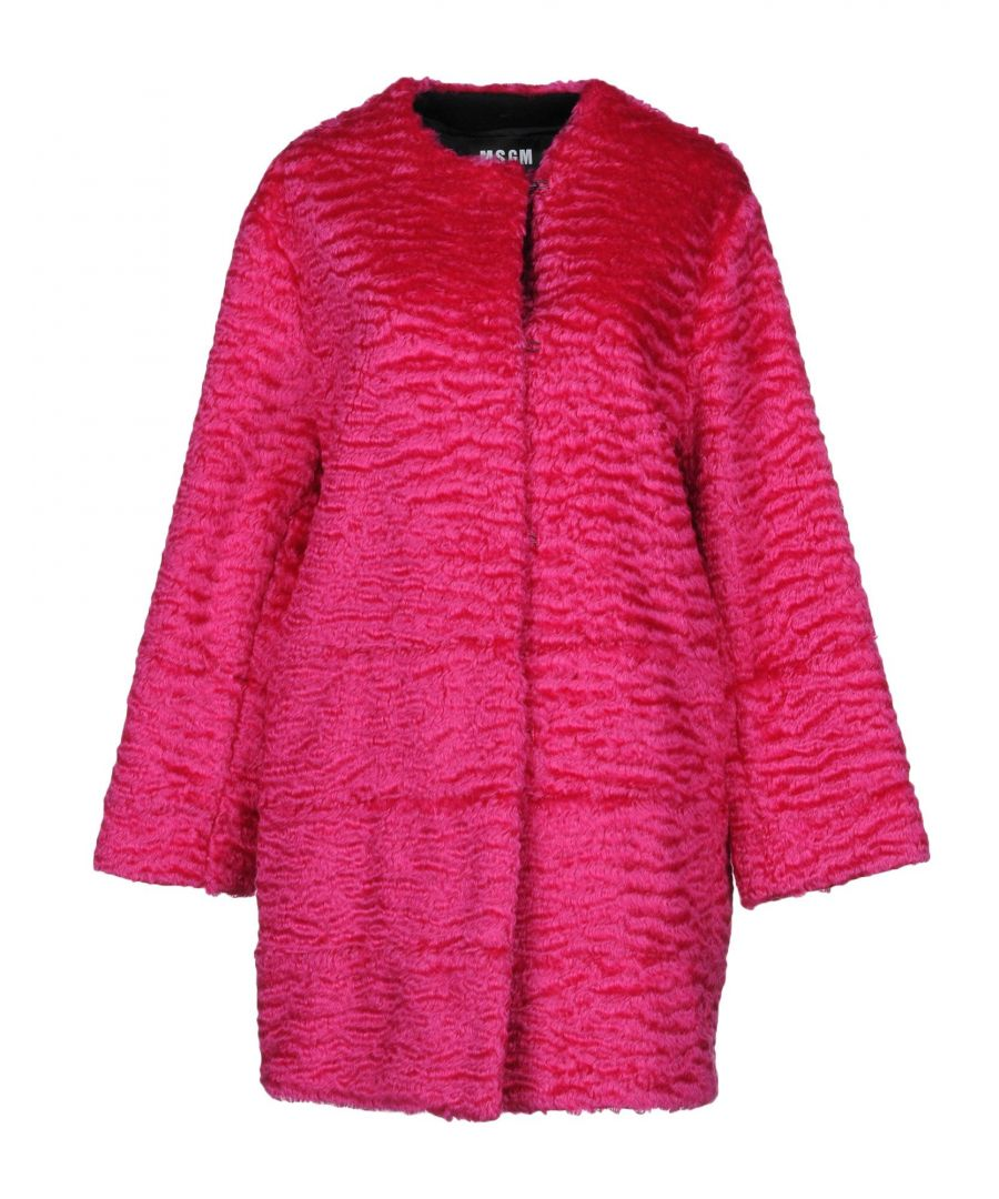 Image for MSGM Garnet Mohair Wool Coat
