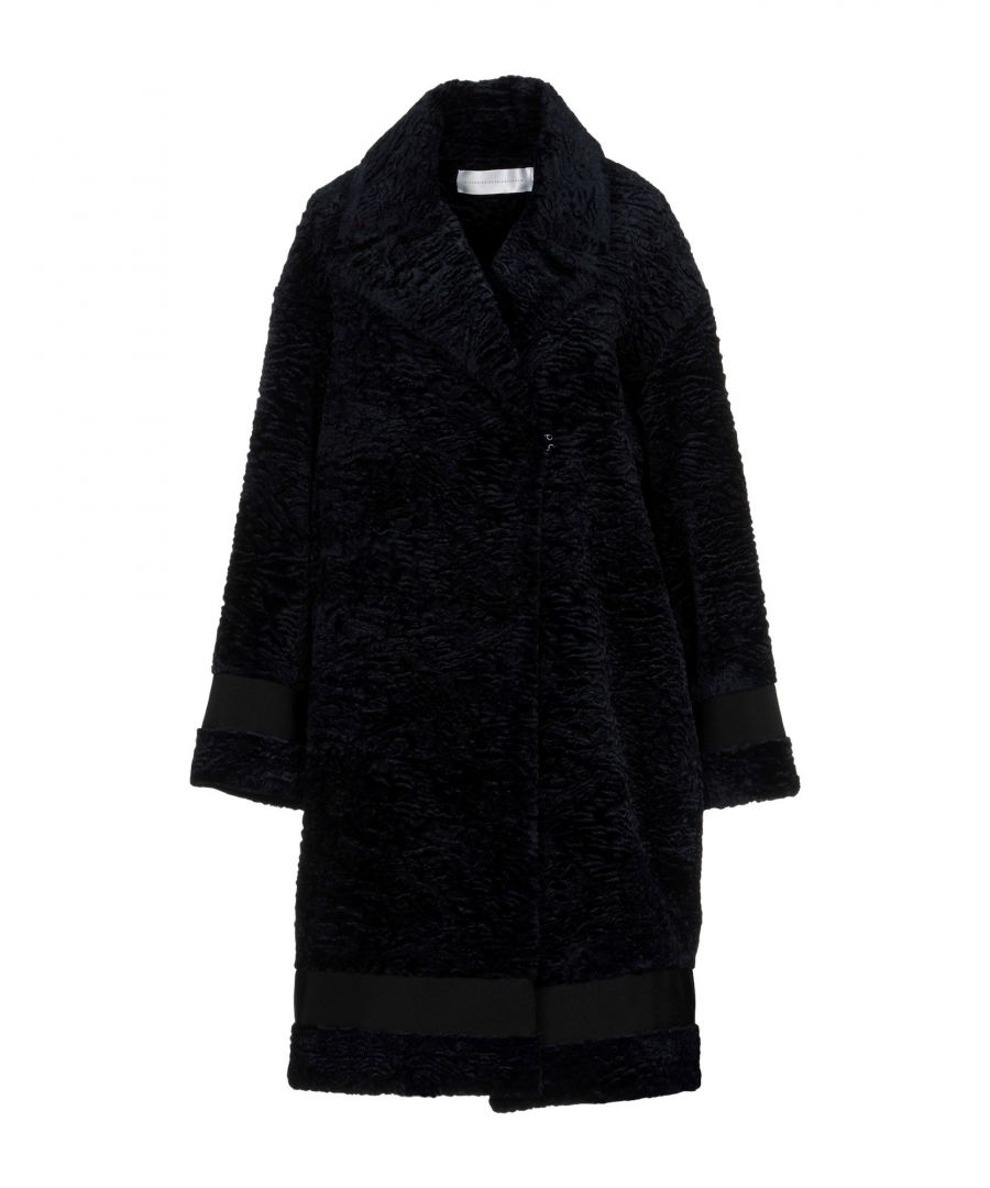 Image for Victoria, Victoria Beckham Dark Blue Faux Fur Coat