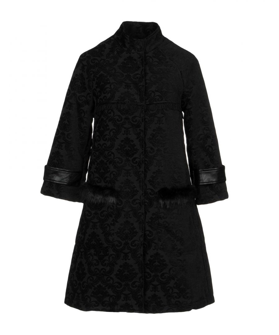Image for Fornarina Black Faux Fur Overcoat