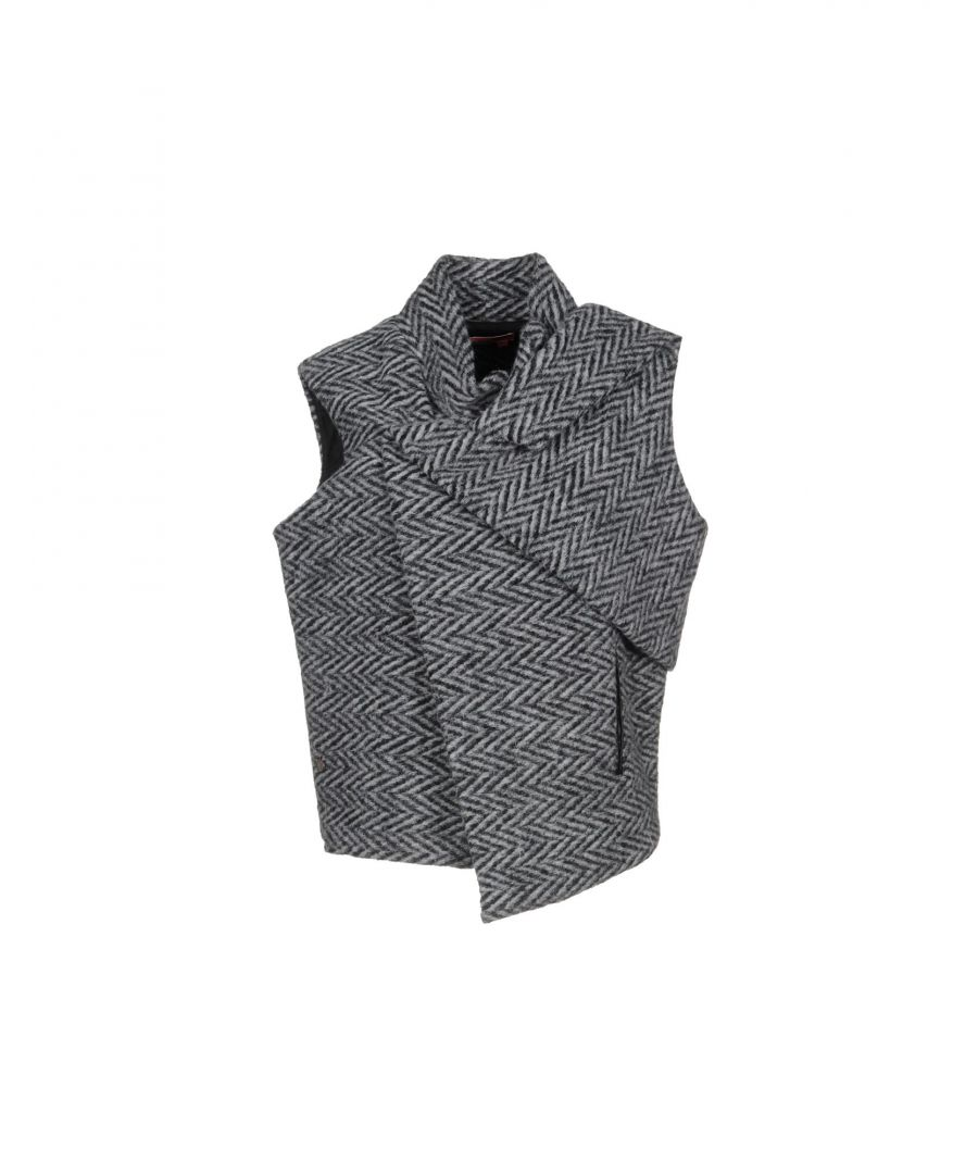 Image for Manila Grace Denim Grey Wool Sleeveless Jacket
