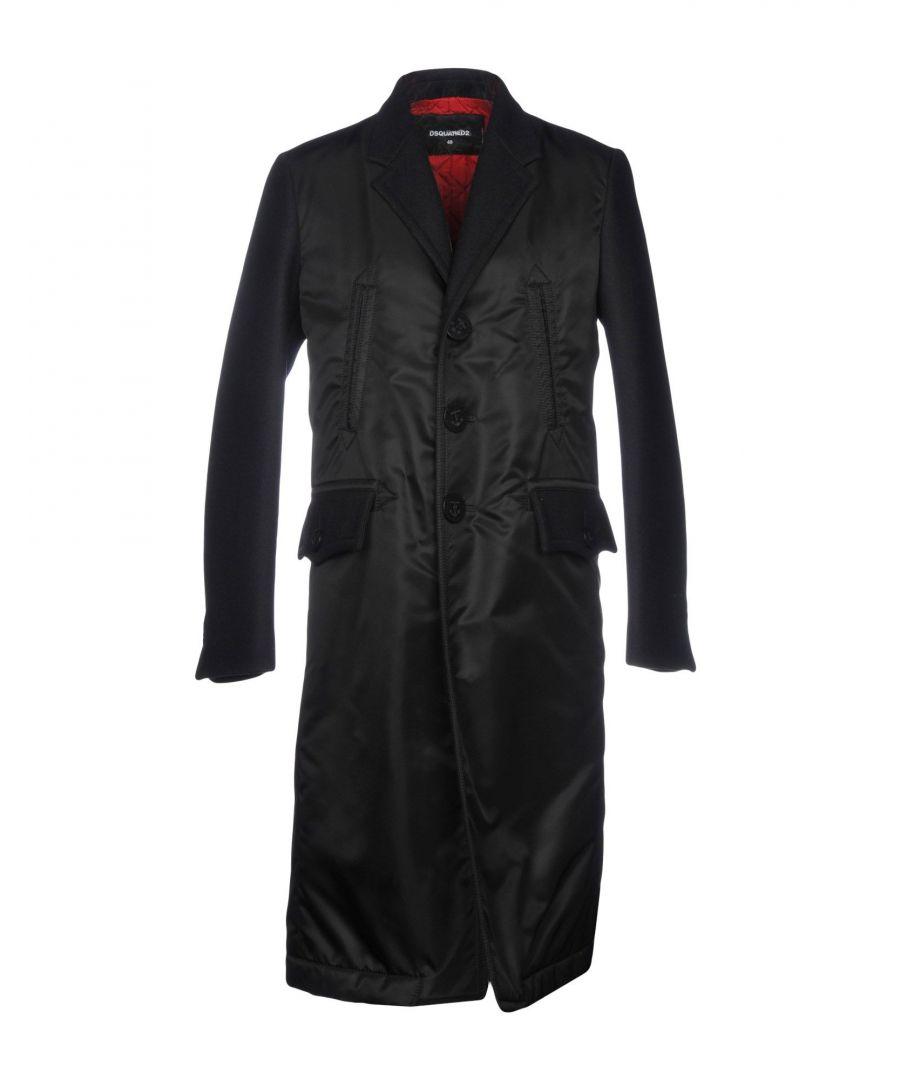 Image for Dsquared2 Black Techno Fabric Coat