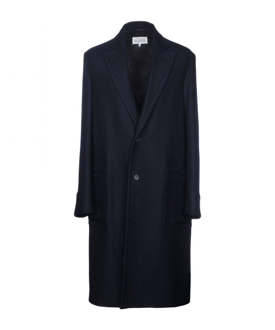 Image for Maison Margiela Dark Blue Virgin Wool Overcoat