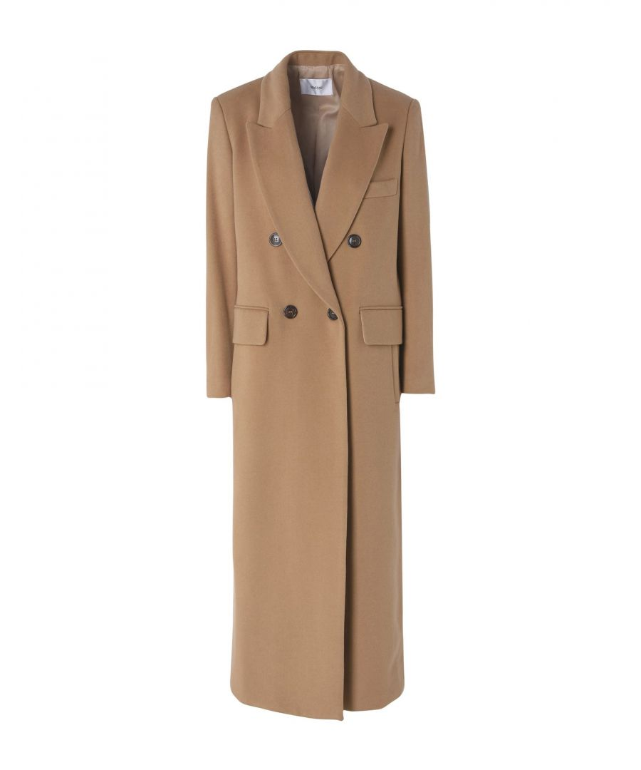 Image for Mauro Grifoni Beige Wool Double Breasted Full Length Overcoat