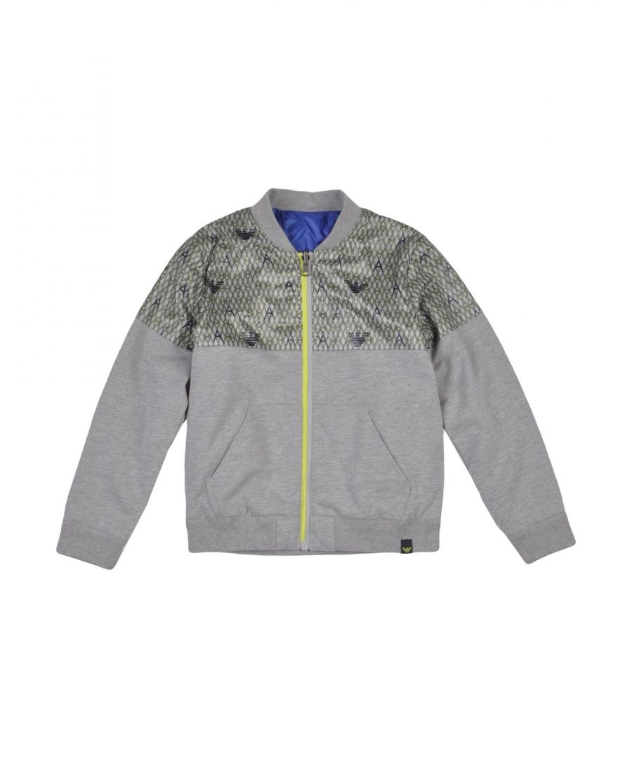 Image for COATS & JACKETS Boy Armani Junior Grey Cotton