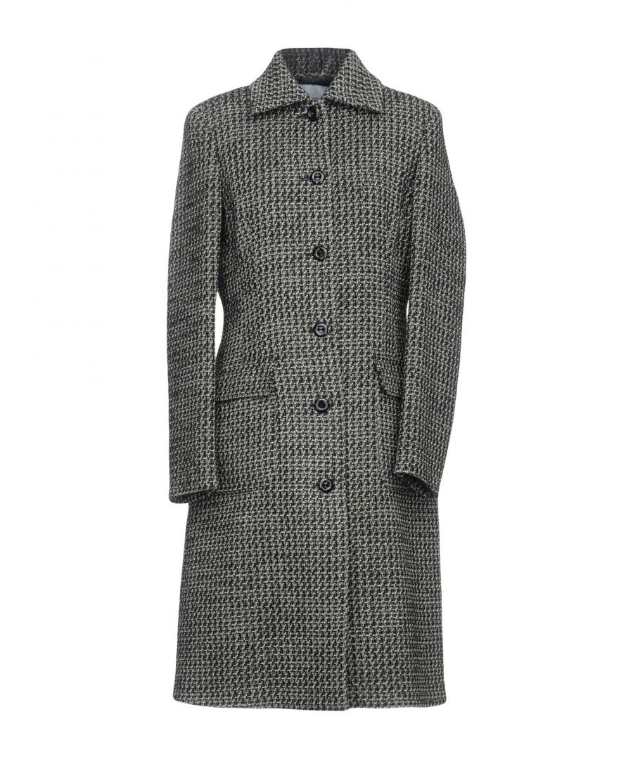Image for Trussardi Black Wool Boucle Coat