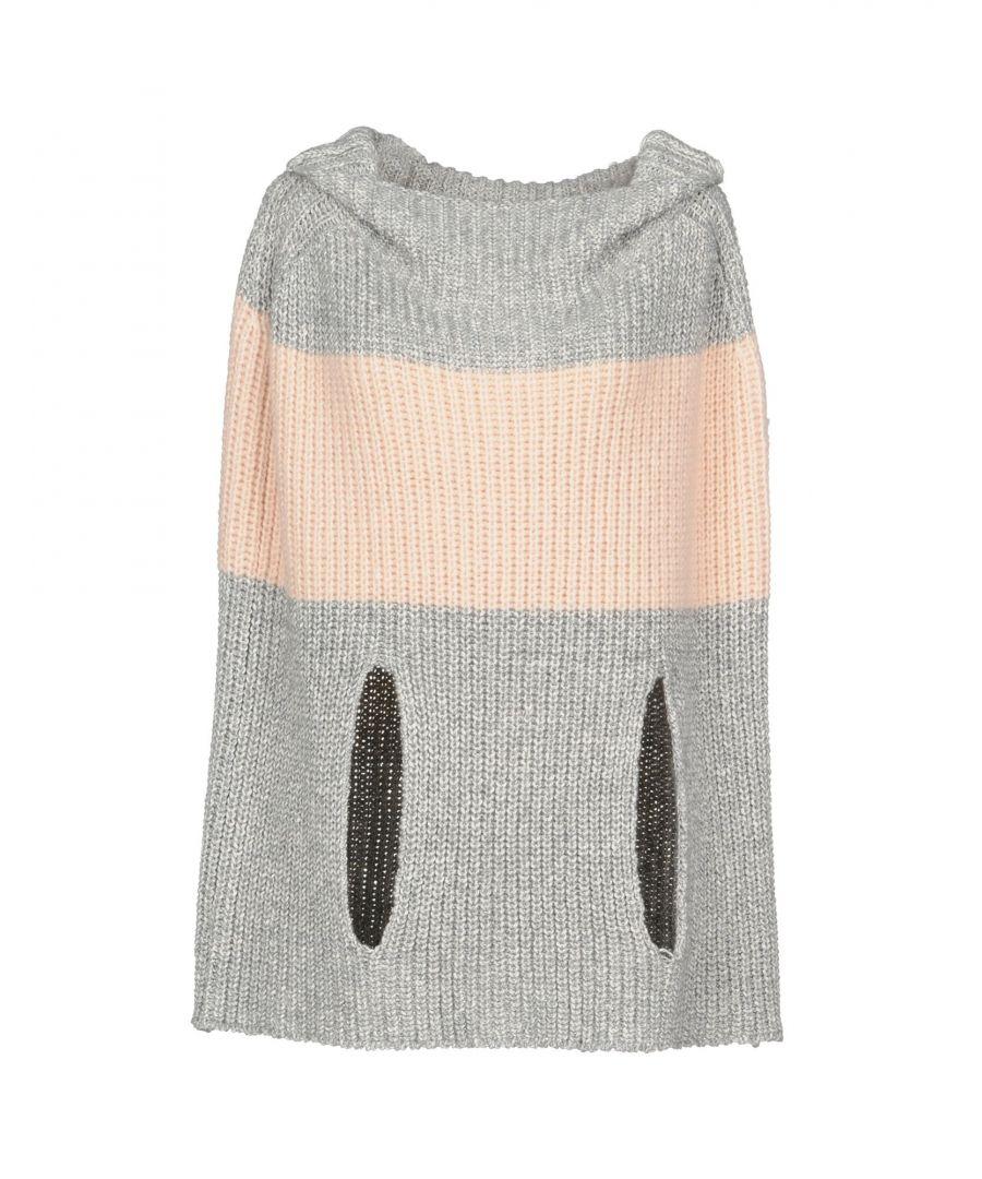 Image for Dondup Light Pink Stripe Cotton Knit Cape