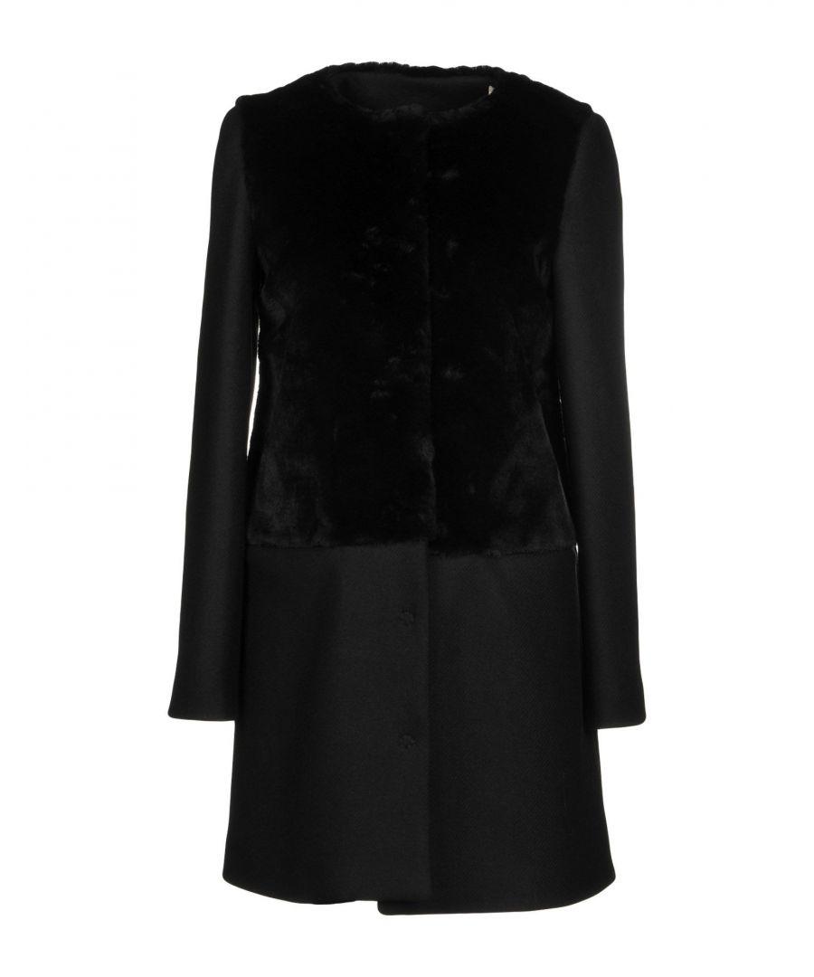 Image for Byblos Black Faux Fur Coat