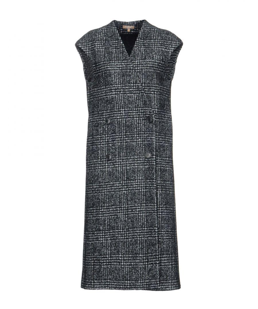 Image for Michael Kors Collection Black Virgin Wool Coat