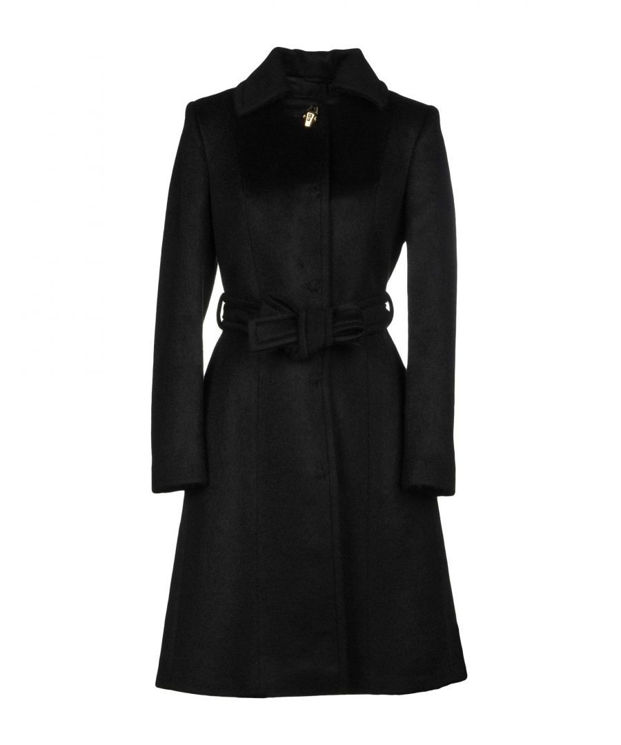 Image for Cavalli Class Black Wool Belted Coat