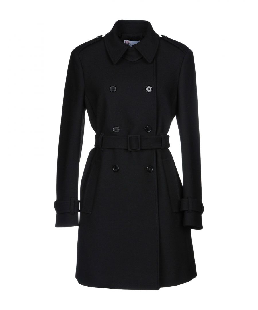 Image for Redvalentino Black Cotton Double Breasted Coat